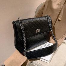 Женская сумка через плечо в стиле ретро большой вместимости