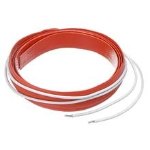 50 Вт 12 в электрические нагревательные колодки 12x500 мм силиконовый нагреватель тепловой нагревательной полосы Гибкая линия нагреватель ремень для инжектора с подогревом