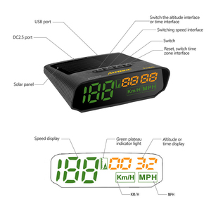 Image 2 - AUTOOL X100 GPS Speedometer Old Car Head UP Display Multifunction Digital Speed Altitude Meter Non OBD Automotive Electronic HUD