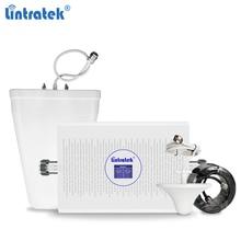 Lintratek 70db agc 2100 1800 3g 4g impulsionador de sinal gsm 2g 3g repetidor 900 2100 celular impulsionador 900 1800 gsm 4g amplificador kw23c