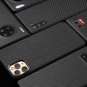 Image 4 - Kevlarจริงคาร์บอนไฟเบอร์โทรศัพท์กรณีแฟชั่นสำหรับIphone 11 Pro Max Ultra Thin Anti Fall HardธุรกิจCase 11 X Shell