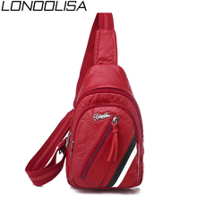 New Casual Women Stripe Chest Bag High Quality Soft Leather Crossbody Bags For Women 2019 Ladies Travel Waterproof Small bag