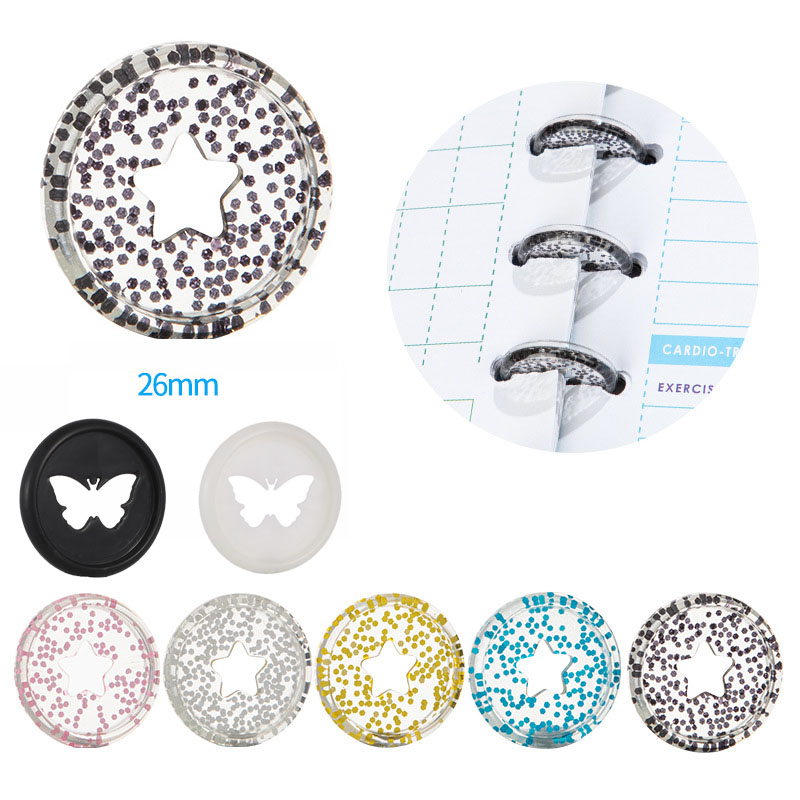 100PCS Binding Discs Rings Buckle Notebook Mushroom Hole Button Loose-Leaf Coil 360 Degree Flip Book Disc Buckle Binding Discs