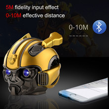 The Transformers Bumblebee Mobile Phone Speaker Bluetooth Portable Wireless Subwoofer Mini Soundbox TF for Phone Christmas Gift(China)