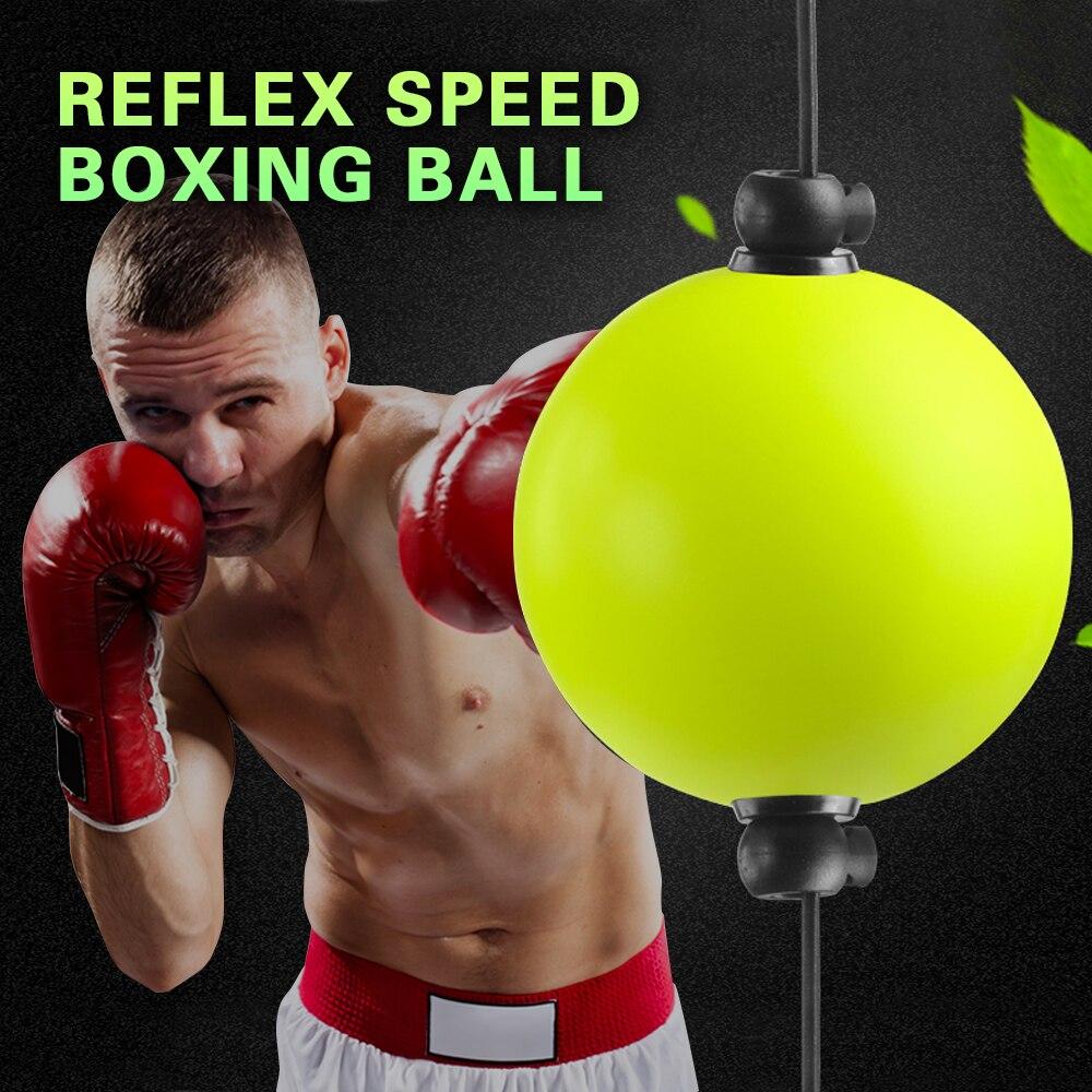 Equipamento de Treinamento de boxe Bola Velocidade de reflexo MMA Sanda Muay Combate Reação do Olho da Mão Exercício Bola de Fitness Saco Duplo Final