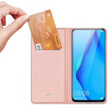 For Huawei P40 Lite/Nova 6 SE/Nova 7i Skin Pro Series Leather Wallet Flip Case Full Protection Steady Stand Magnetic Closure