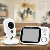 Wireless Video Farbe Baby Monitor 3,2 zoll Hohe Auflösung Baby Nanny Sicherheit Kamera Nachtsicht Temperatur Schlaf Monitor