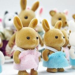 Детские игрушки кролика Семья Куклы Фигурки для кукольного домика коллекционные игрушки Моделирование лесных животных 4,5 см 1:12 2 шт Подароч...