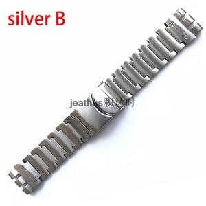 Image 4 - Jeathus 見本鋼ストラップのための時計バンドの交換 YOS440 441 439 455 456 固体ステンレス鋼ブレスレット 23 ミリメートルヨーヨー腕時計バンド