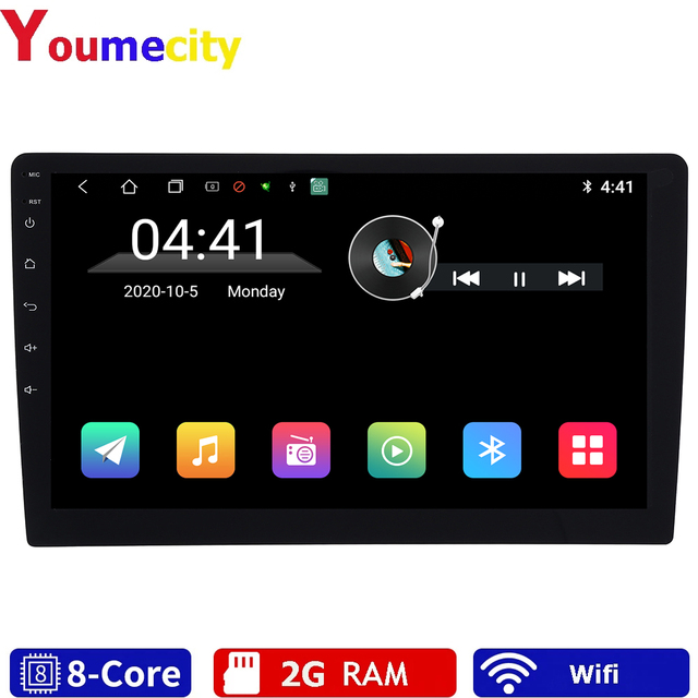 """Eight Core/10.1 """"Android 9.0 Car Multimedia Dvd Video Player Tap PC Tablet GPS Navigation Radio Stereo Bluetooth Wifi  Universal"""