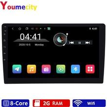"""Sekiz çekirdek/10.1 """"Android 9.0 araba multimedya Dvd Video oynatıcı dokunun PC Tablet GPS navigasyon radyo Stereo Bluetooth wifi evrensel"""