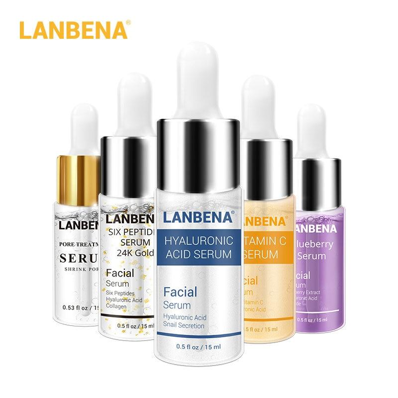 LANBENA Vitamin C Face Serum Hyaluronic Acid Whitening Moisturizing Acne Treatment Repairing Skin Care Anti Aging Wrinkles Serum 1