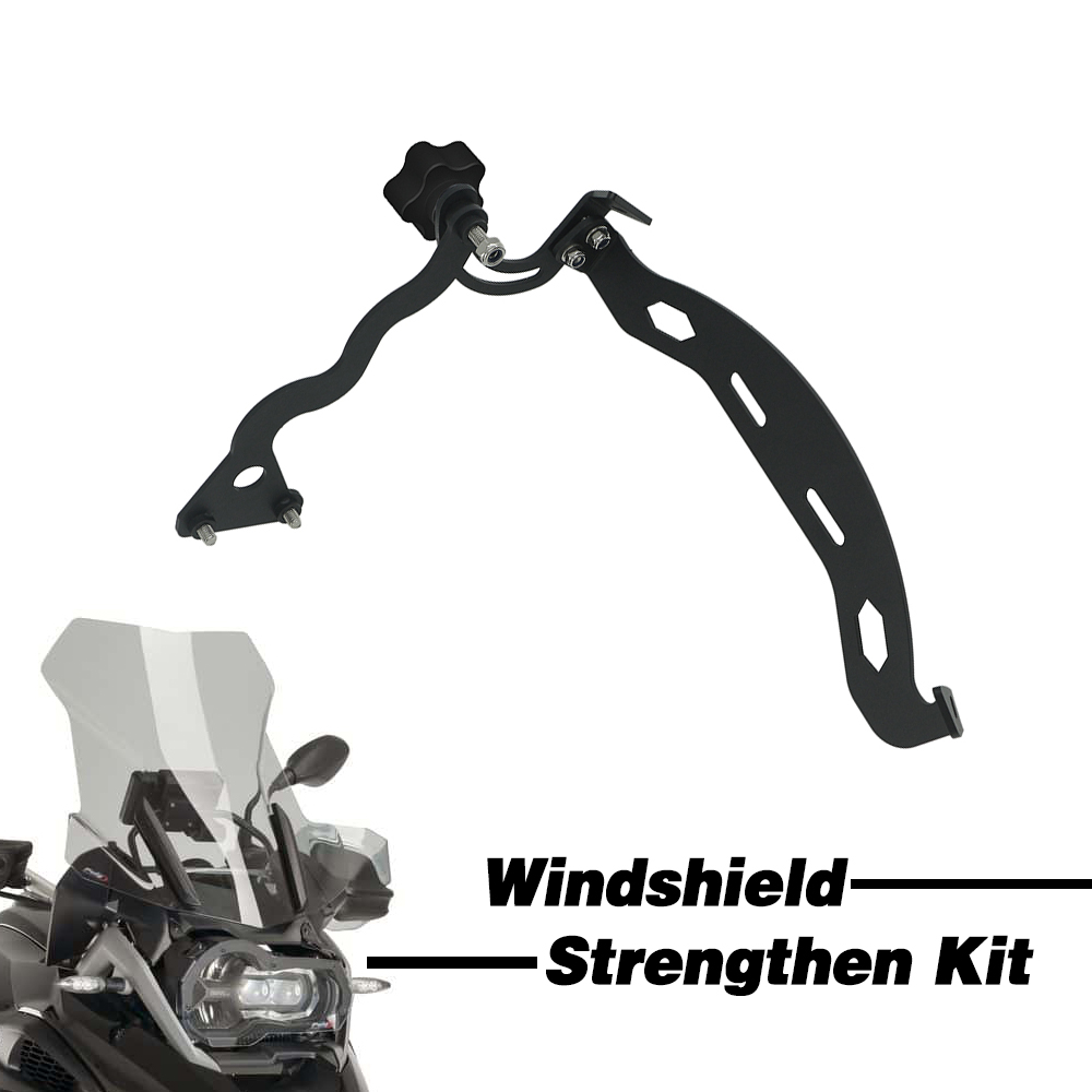 Windshield Strengthen Kit For BMW R1200GS Adventure R1250GS R1200 R1250 GS/ADV LC 2013-2019 Windscreen Bracket Adjustable Clamp