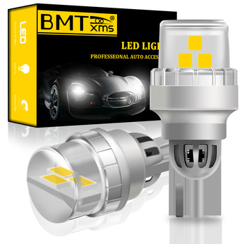 BMTxms 2Pcs T15 W16W LED Bulbs Canbus Car Reverse Lights 2835SMD Rear Tail Lamp For BMW 5 Series E60 E61 F10 F11 F07 Mini Cooper image