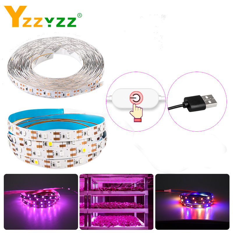 Phyto 5V USB Dimmable LED Full Spectrum Plant Grow Light Strip With Touch Motion Sensor Growing Lamp LED Lamp For Plants Flowers