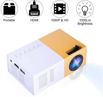 Mini Video Projectors, Portable 1080P LED Projector Indoor/Outdoor Movie projectors Support Laptop PC Smartphone HDMI