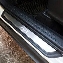 도요타 C HR 적합 CHR 2016 2017 2018 2019 액세서리 스테인레스 스틸 도어 씰 스커프 플레이트 Welcome Pedal Car Styling 4 개/대