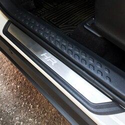 Nadające się do Toyota C-HR CHR 2016 2017 2018 2019 akcesoria drzwi ze stali nierdzewnej próg płyta chroniąca przed zarysowaniem listwa progowa Car Styling 4 sztuk/zestaw