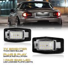2 peças carro conduziu a lâmpada de luz da placa licença 6000k para ford escape miata tribute mpv mercúrio carro completo conduziu a lâmpada luz da placa licença