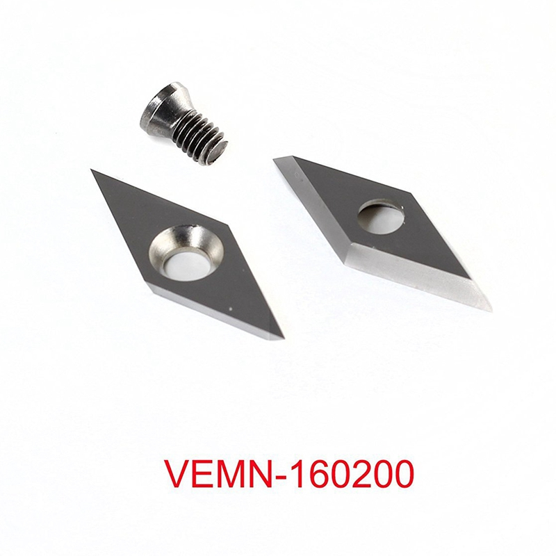 3Pcs Tungsten Carbide Cutters Inserts Set For Wood Lathe Turning Tools Include 11Mm Square With Radius 12Mm Round 28X10Mm Diamon