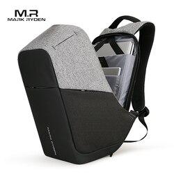مارك ريدن متعددة الوظائف USB شحن الرجال 15 بوصة محمول حقائب الظهر للمراهقين موضة الذكور Mochila حقيبة السفر مكافحة اللص