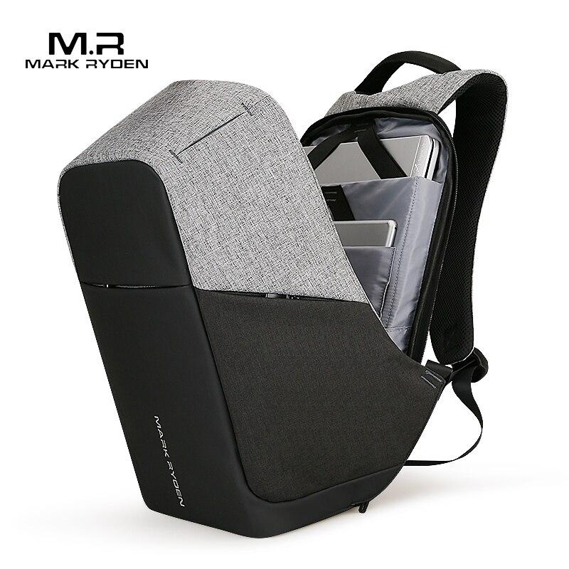 Mark Ryden, многофункциональные мужские рюкзаки с USB зарядкой, 15 дюймов, для ноутбука, для подростка, модный мужской рюкзак для путешествий Mochila, анти вор-in Рюкзаки from Багаж и сумки