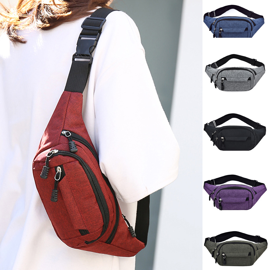 Fashion Men's And Women's Simple Leisure Fashion Oxford Sport Fitness Waist Packs Sholder Bags For Ladies 2019#35