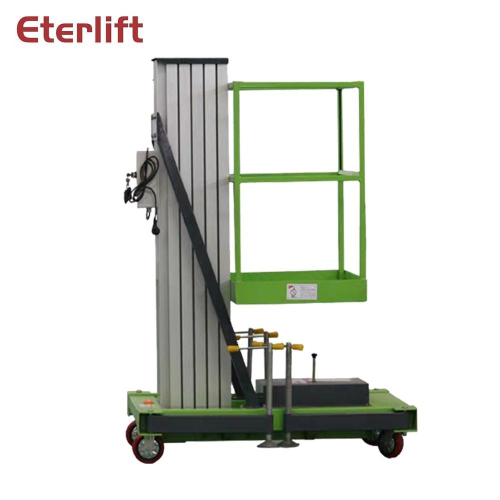 12-16 м внутренний вертикальный алюминиевый одноместный подъемник