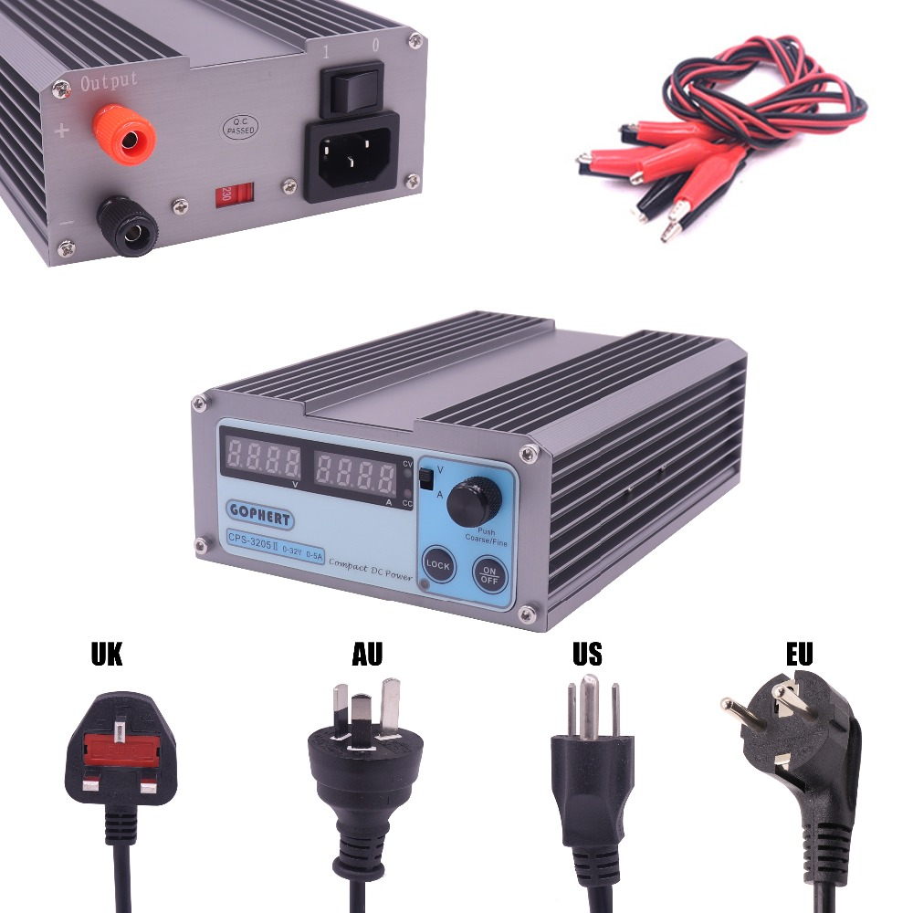 CPS-3205 II 160 W (110Vac / 220Vac) 0-32 V / 0-5A, Compact Digitally Adjustable DC Power Supply+ Gift