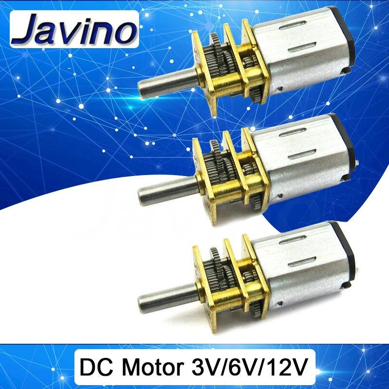 DC 3 v//6 v//12 V n20 mini micro Metal engranajes motor con engranaje dc motores 15//
