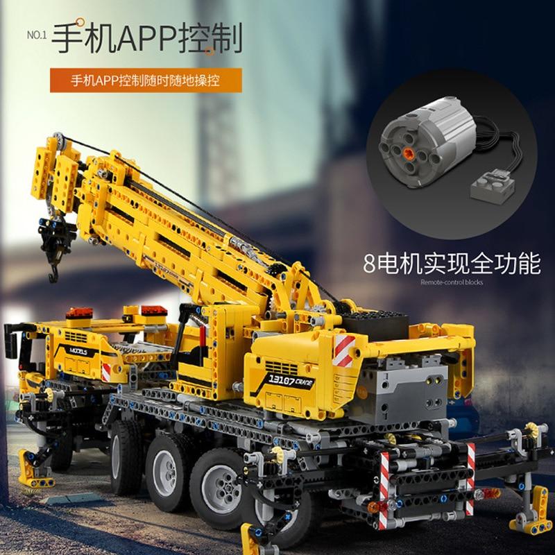 MouldKing 13107 APP RC Crane car MK II Compatible with Ultimate 42009 MOC 0853 Technic Building Blocks Bricks lepinbrand Toys