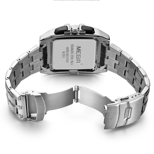 Image 3 - MEGIR Original Luxury Men Watch Stainless Steel Mens Quartz Wrist Watches Business Big Dial wristwatch mens Relogio Masculino