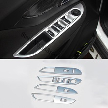For LHD Opel Mokka Buick Encore  2013to2018 Accessories ABS Chrome Interior Armrest Door Window Button Switch Panel Cover Trim