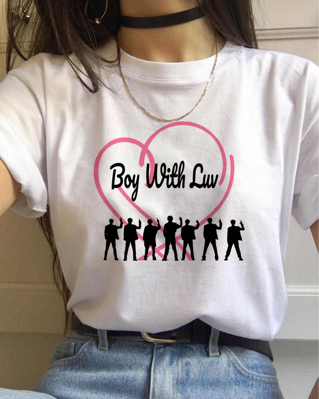 Camiseta Multiple k-pop Blackpink Ateez para mujer TXT Twice Tshirt Kpop Boy con Luv Tees femenina Nct127