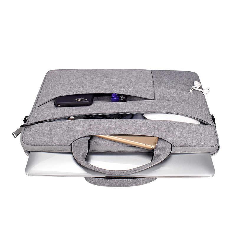 Bolso para ordenador portátil 13,3 15,6 14 pulgadas, funda impermeable para Macbook Air Pro 13 15, bolso de hombro para ordenador, maletín