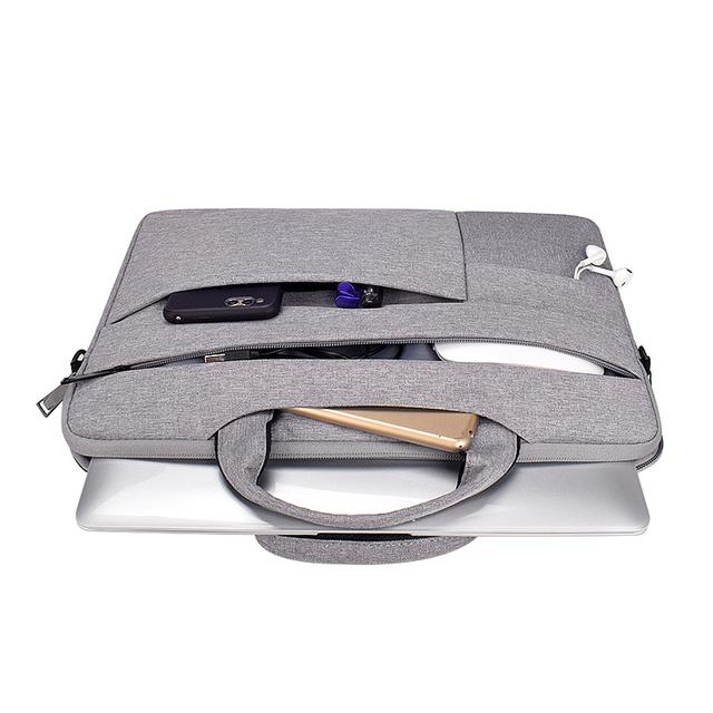 Laptop Bag 13.3 15.6 14 inch Waterproof Notebook Bag Sleeve For Macbook Air Pro 13 15 Computer Shoulder Handbag Briefcase Bag