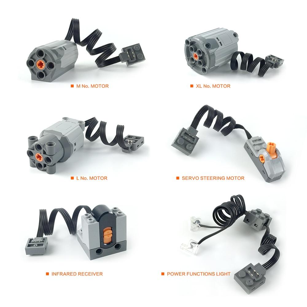 Technic parts for multi power servo motor train electric motor building kits
