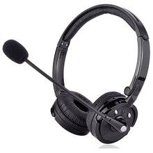 Casque Binaural Bluetooth M20 avec micro réduction du bruit casque centre dappels de bureau Service client casque dappel vocal HD