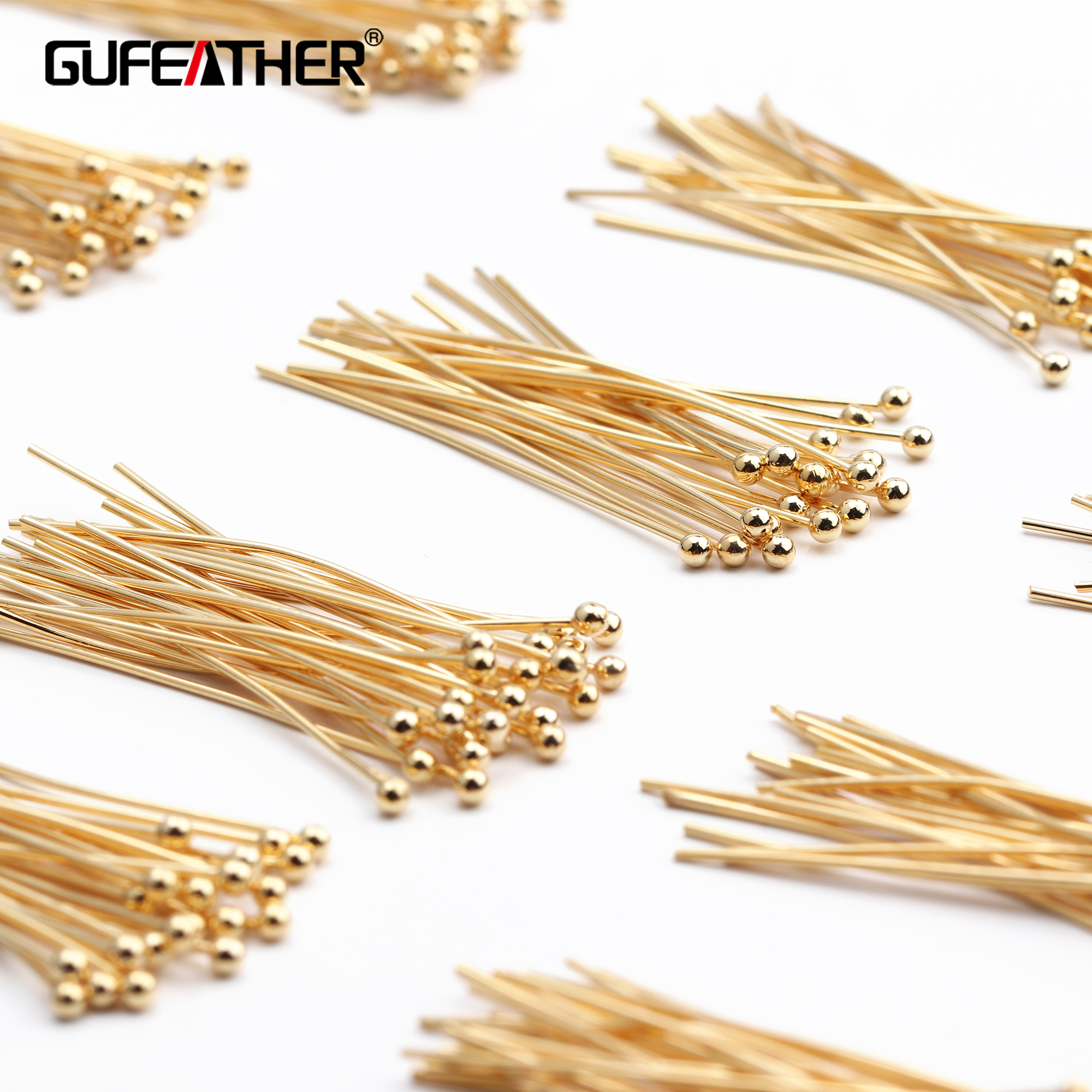 GUFEATHER M510,jewelry Accessories,18k Gold Plated,nickel Free,copper Metal,needle,diy Jewelry,hand Made,jewelry Making,25g/lot