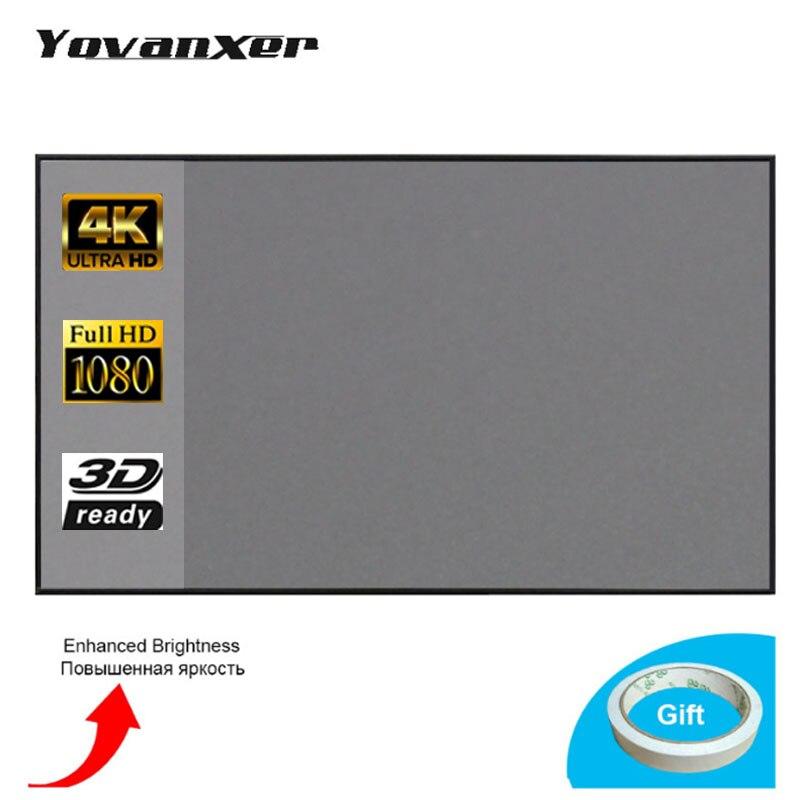 60-133 polegada projetor tela de projeção para xgimi h1 h2 h1s z6 z5 z3 jmgo j6s e8 unic projetor beamer
