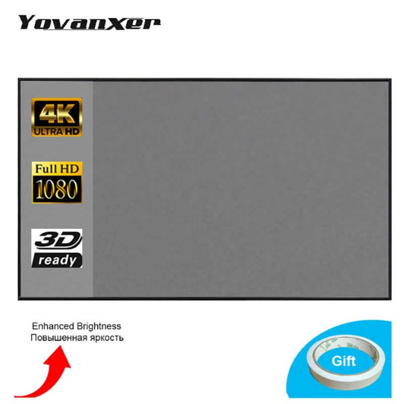 60-133inch Proyektor Layar Proyeksi Untuk XGIMI H1 H2 H1S Z6 Z5 Z3 JMGO J6S E8 UNIC Proyektor beamer