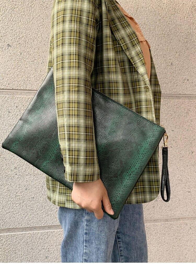python bolsa para portátil bolsa de crocodilo bolsa de arquivo para homem