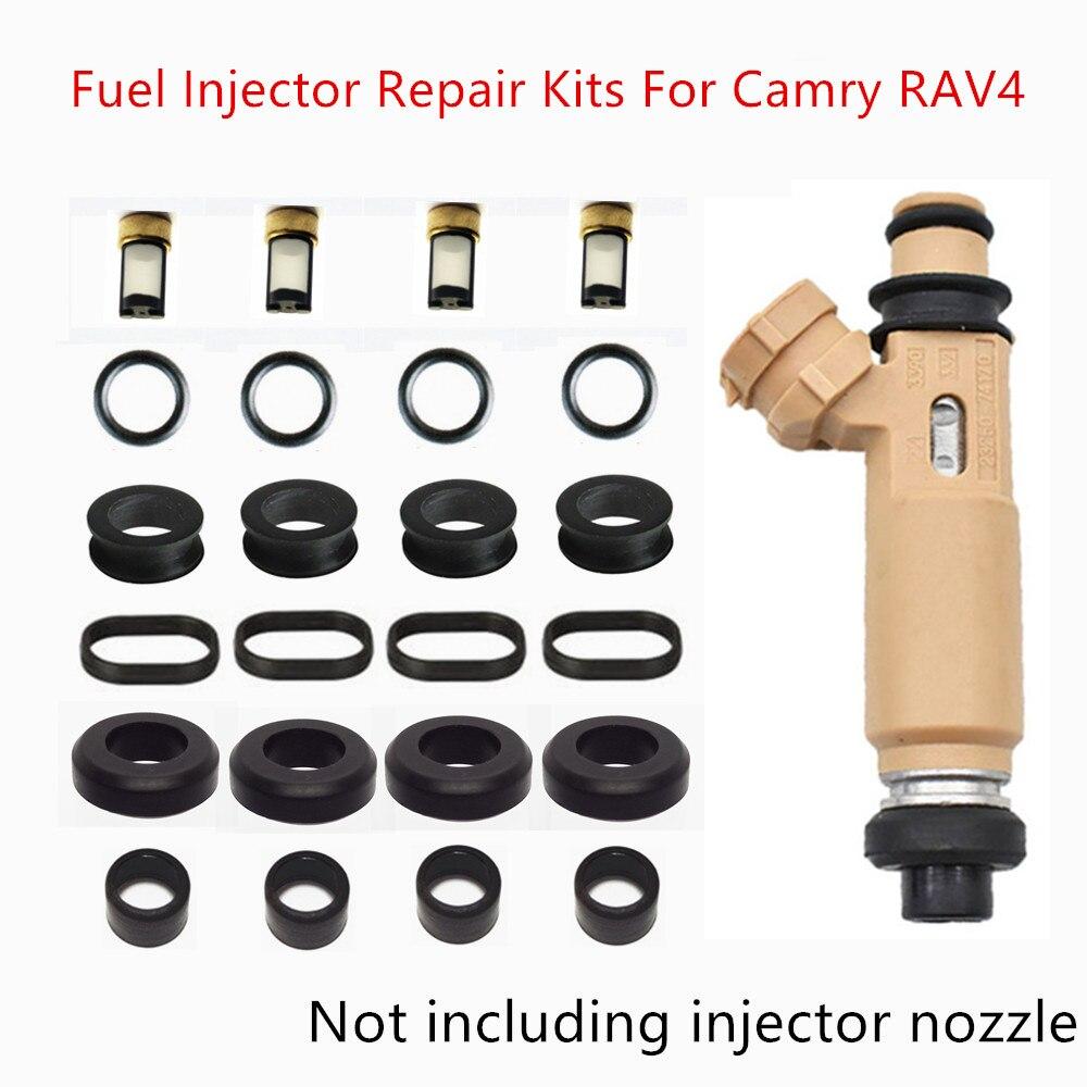무료 배송 toyota camry rav4 avensis ipsum corona vista 용 연료 인젝터 수리 서비스 키트 23250-74170 AY-RK104A