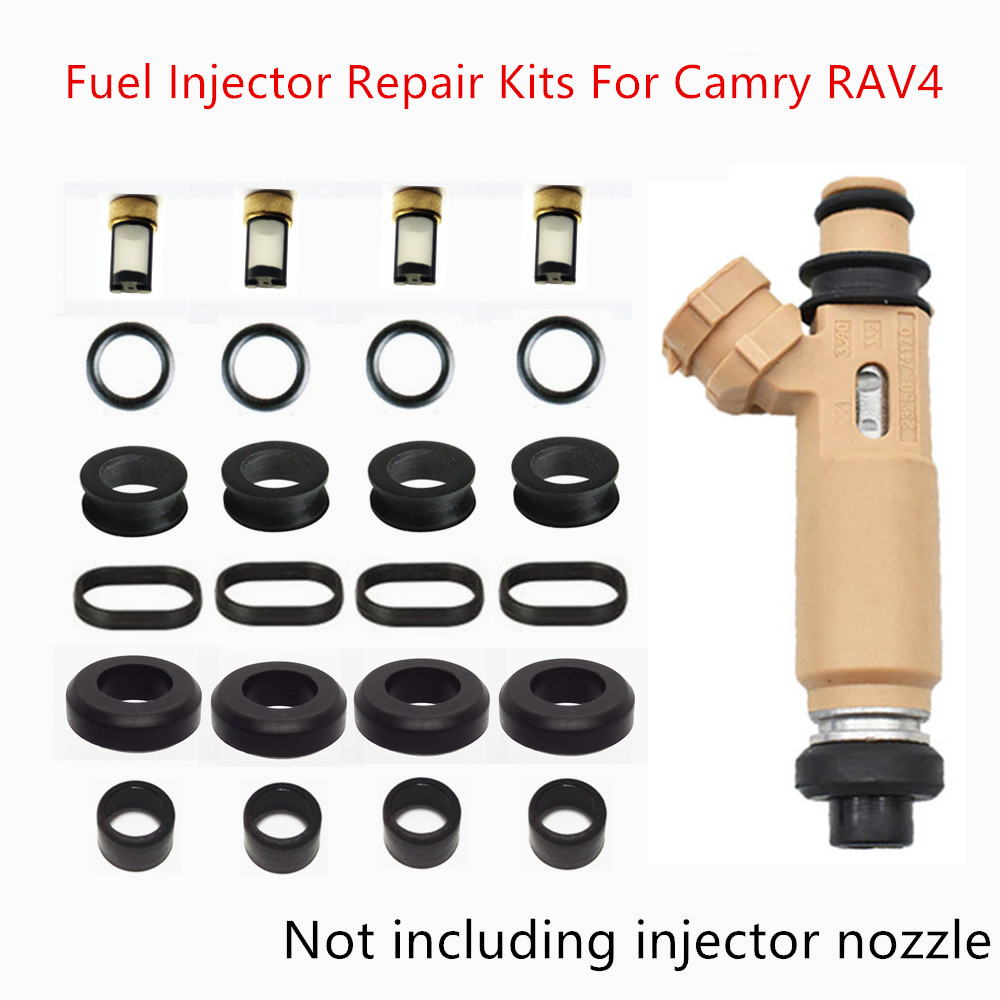 Envío Gratis inyector de combustible Kits de servicio de reparación para Toyota Camry Rav4 Avensis Ipsum Corona Vista 23250-74170 AY-RK104A