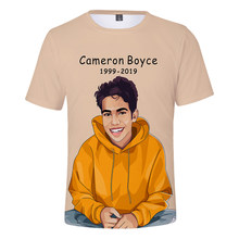 Cameron boyce 3D Nova chegada Roupas de Verão Impressão Camisetas Mulheres e Homens Roupas Casuais Legal Venda Quente 2019 de Manga Curta além de