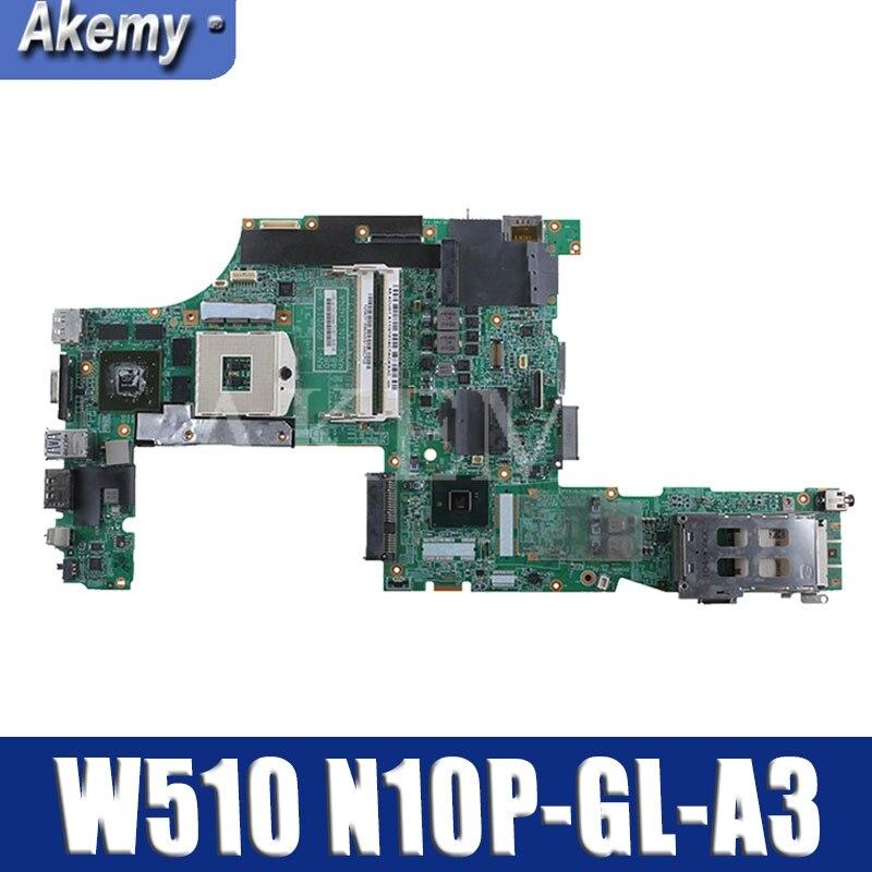Laptop Motherboard For LENOVO Thinkpad W510 Mainboard 63Y1896 63Y1551 63Y2022 75Y4115 08271-3 48.4CU14.0 QM57 N10P-GL-A3