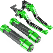For Kawasaki NINJA 300R Z300 Z 300 2008-2017 2013 2014 2015 Motorcycle CNC Adjustable Foldable Brake Clutch Lever Handle Grips цена