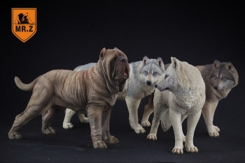 1/6 Scale Mr.Z Neapolitan Mastiff Dog Animal Statue Model Toy 4 Colors Action Figure Scence Accessory for Collection tibetan mastiff made in u k artistic style dog zip pull collection