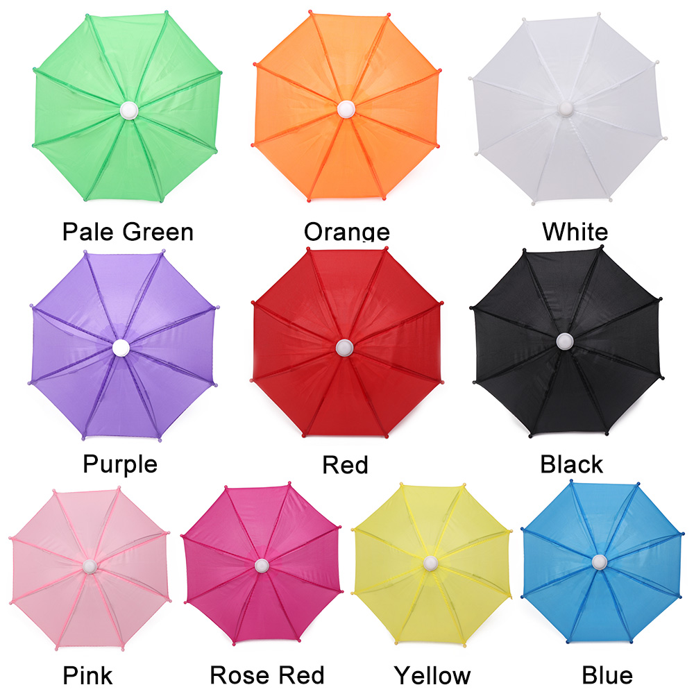 Mini Umbrellas Toy Rain Gear Baby Doll Accessory Birthday Gift Children Toys