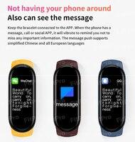 Reloj de pulsera inteligente deportivo resistente al agua IP67 para teléfono móvil, Monitor de ritmo cardíaco y presión arterial con pantalla a Color, M6